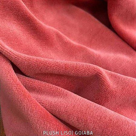 Plush Goiaba Mogno tecido toque Aveludado e Leve Brilho