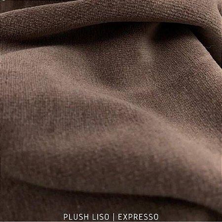 Plush Marrom Expresso tecido toque Aveludado e Leve Brilho