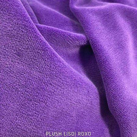 Plush Roxo Místico tecido toque Aveludado e Leve Brilho