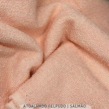 Atoalhado Felpudo Salmão 100% Algodão tecido Felpado firme