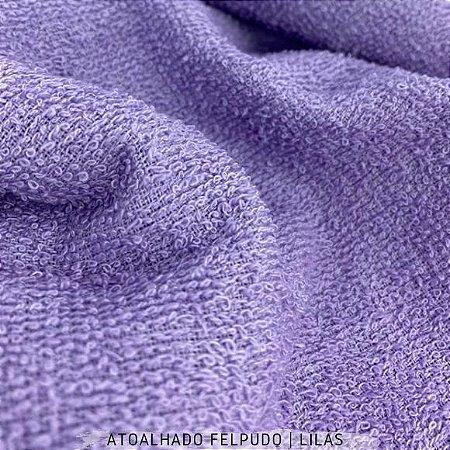 Atoalhado Felpudo Lilás 100% Algodão tecido Felpado firme