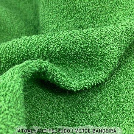 Atoalhado Felpudo Verde Bandeira 100% Algodão tecido Felpado firme
