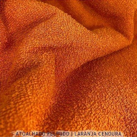 Atoalhado Felpudo Laranja Cenoura 100% Algodão tecido Felpado firme