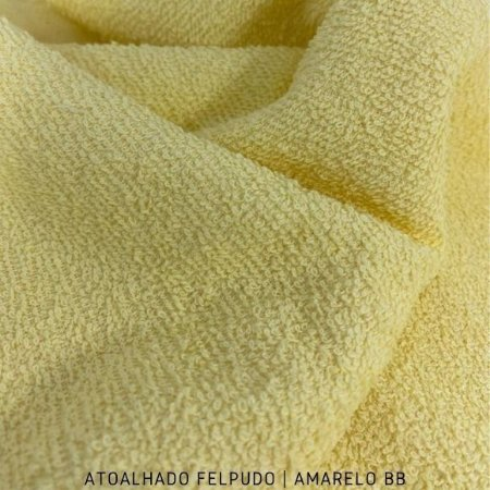 Atoalhado Felpudo Amarelo BB 100% Algodão tecido Felpado firme