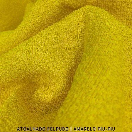 Atoalhado Felpudo Amarelo Piu-Piu 100% Algodão tecido Felpado firme