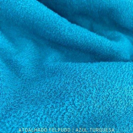 Atoalhado Felpudo Azul Turquesa 100% Algodão tecido Felpado firme