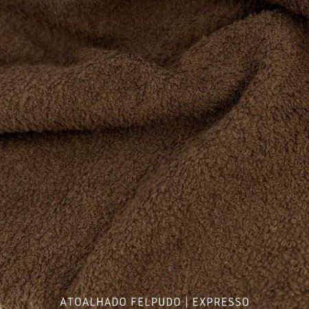 Atoalhado Felpudo Marrom Expresso 100% Algodão tecido Felpado firme