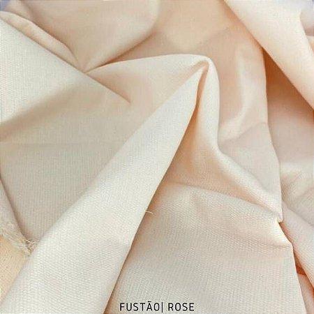 Fustão Rose tecido 100% Algodão com texturas