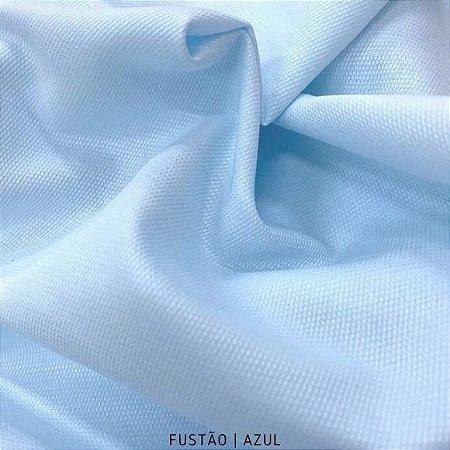 Fustão Azul Bebê tecido 100% Algodão com texturas