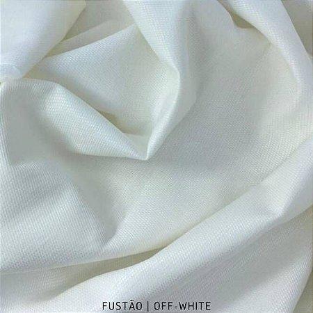 Fustão OFF-White tecido 100% Algodão com texturas