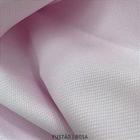Fustão Rosa Bebê tecido 100% Algodão com texturas