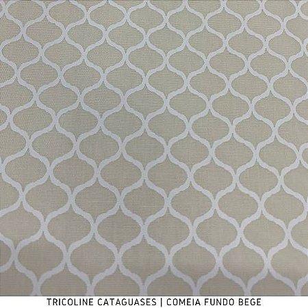 Tricoline Colméia Bege tecido Cataguases 100%Algodão - 1,40Largura