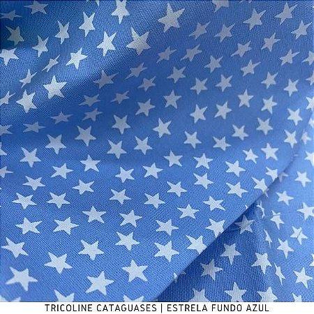 Tricoline Estrela Azul tecido Cataguases 100%Algodão - 1,40Largura