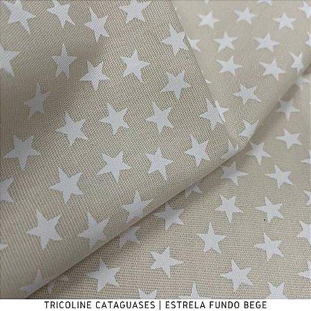 Tricoline Estrela Bege tecido Cataguases 100%Algodão - 1,40Largura