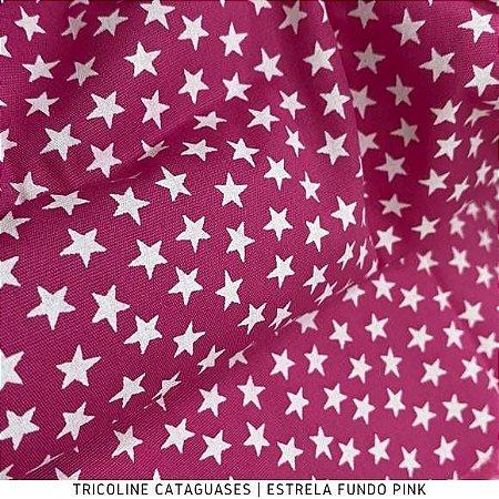 Tricoline Estrela Pink tecido Cataguases 100%Algodão - 1,40Largura