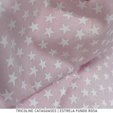 Tricoline Estrela Rosa tecido Cataguases 100%Algodão - 1,40Largura