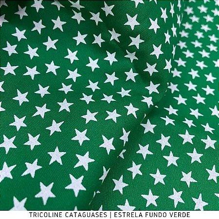 Tricoline Estrela VerdeBandeira tecido Cataguases 100%Algodão - 1,40Largura