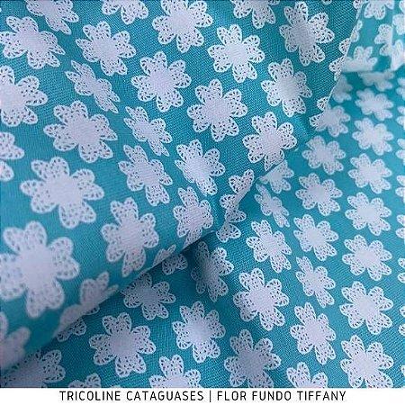 Tricoline Flor Tiffany tecido Cataguases 100%Algodão - 1,40Largura