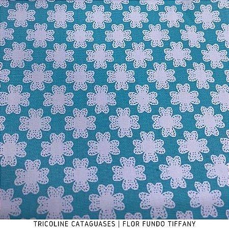 Tricoline Geométrico Tiffany tecido Cataguases 100%Algodão - 1,40Largura