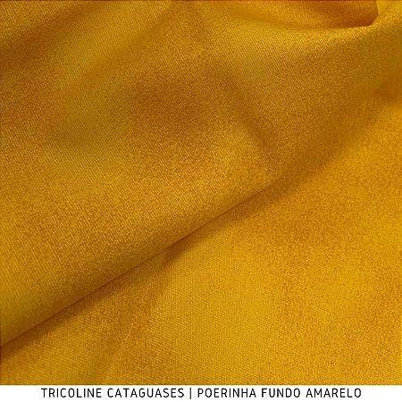 Tricoline Poerinha Amarelo tecido Cataguases 100%Algodão - 1,40Largura