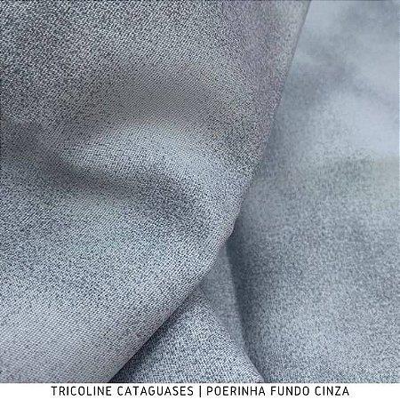 Tricoline Poerinha Cinza tecido Cataguases 100%Algodão - 1,40Largura
