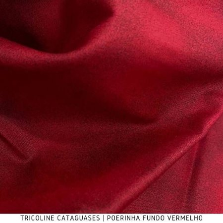 Tricoline Poerinha Vermelho tecido Cataguases 100%Algodão - 1,40Largura