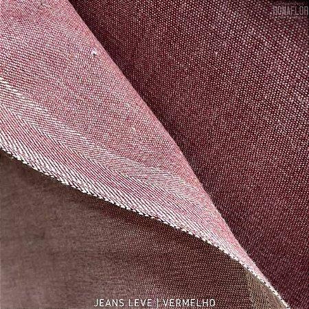 Jeans Leve Vermelho tecido 100% Algodão - 1.40Largura