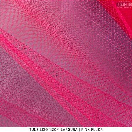 Tule Tradicional Pink Fluor tecido para Roupas, Decorações e Costura Criativa
