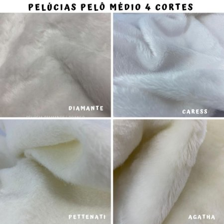 Pelúcias Pelo Médio 4Cortes - Medida 50x1,60m