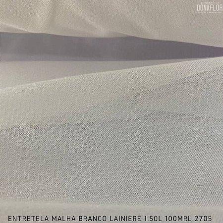 Entretela de Malha Fina Branca Termocolante para Tecidos Leves