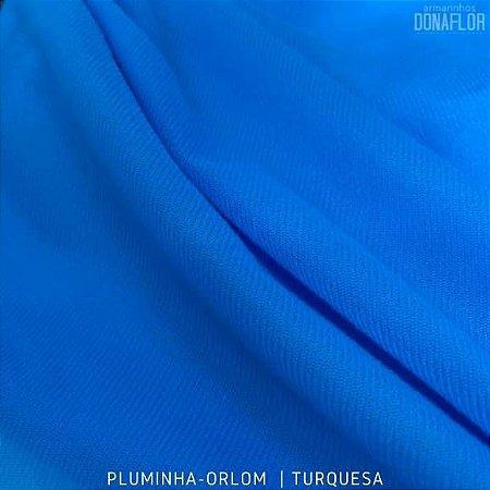 Pluminha Orlon, Azul Turquesa tecido Malha Felpuda para Costura Criativa