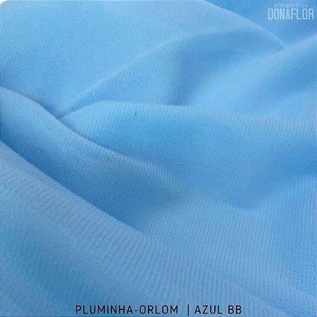 Pluminha Orlon, Azul Bebê tecido Malha Felpuda para Costura Criativa