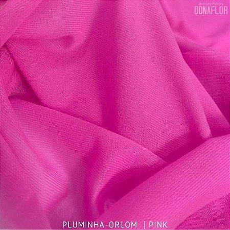 Pluminha Orlon, Pink tecido Malha Felpuda para Costura Criativa
