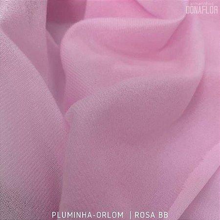 Pluminha Orlon, Rosa Bebê tecido Malha Felpuda para Costura Criativa