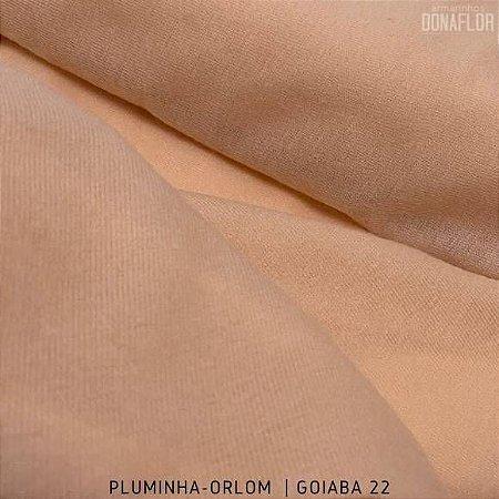 Pluminha Orlon, Goiaba C22 tecido Malha Felpuda para Costura Criativa