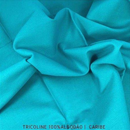 Tricoline Liso Caribe tecido 100% Algodão 1,40Largura