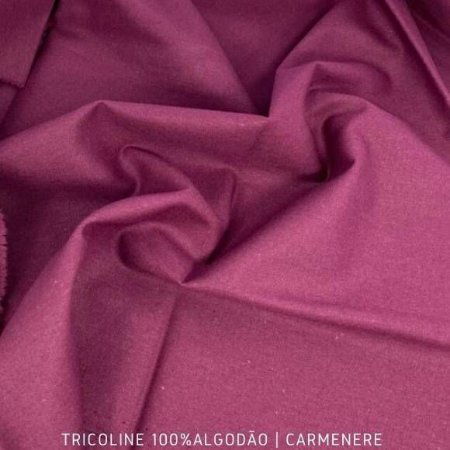 Tricoline Liso Carmenere tecido 100% Algodão 1,40Largura