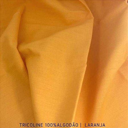 Tricoline Liso Laranja tecido 100% Algodão 1,40Largura