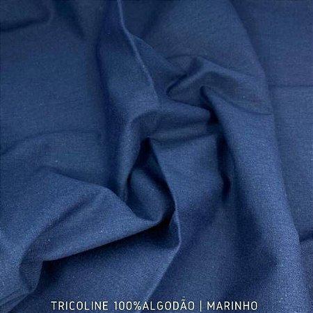 Tricoline Liso Marinho tecido 100% Algodão 1,40Largura