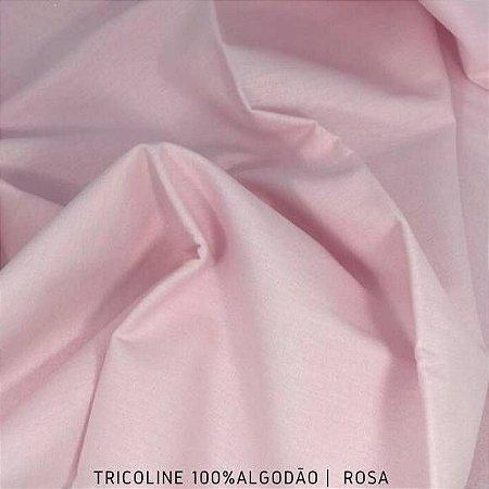 Tricoline Liso Rosa tecido 100% Algodão 1,40Largura