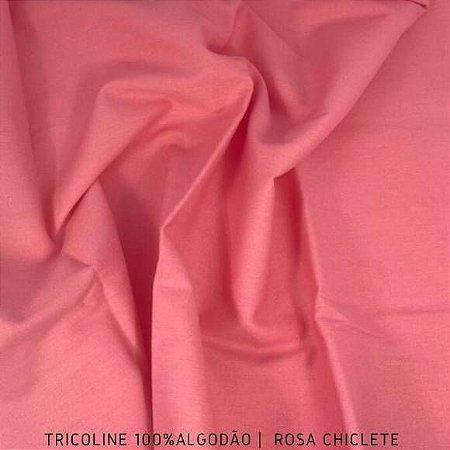 Tricoline Liso Rosa Chiclete tecido 100% Algodão 1,40Largura