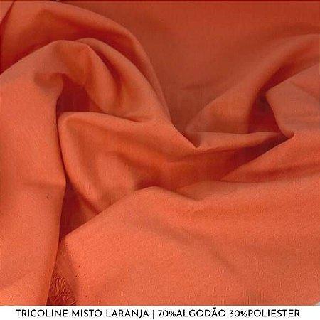 Tricoline Misto Laranja tecido 1,40Largura