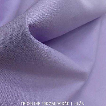 Tricoline Liso Lilás tecido 100% Algodão 1,40Largura