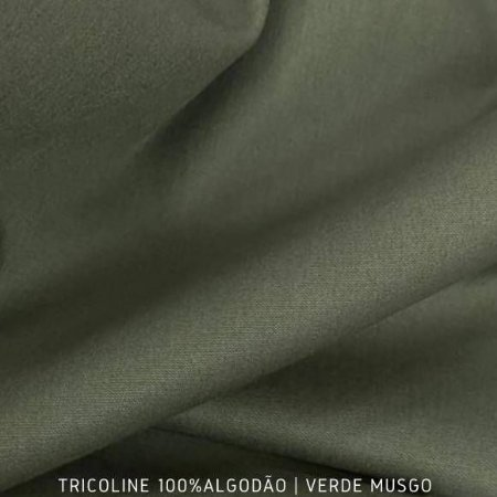 Tricoline Liso Verde Musgo tecido 100% Algodão 1,40Largura