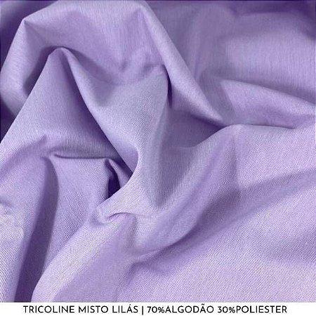 Tricoline Misto Lilás tecido 1,40Largura