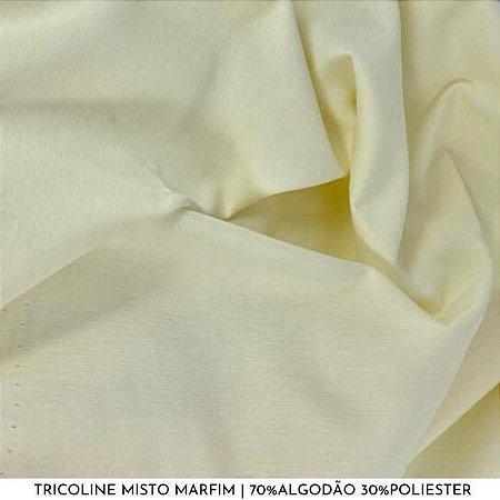 Tricoline Misto Marfim tecido 1,40Largura