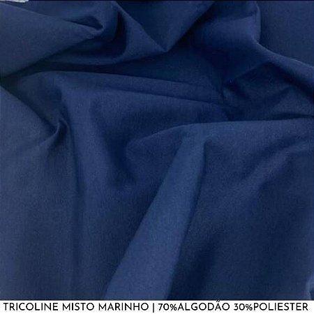 Tricoline Misto Marinho tecido 1,40Largura