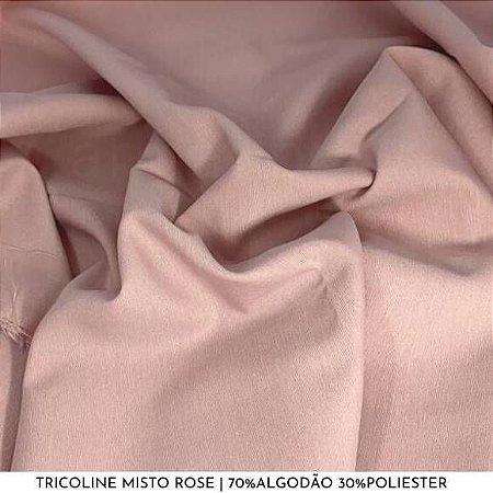 Tricoline Misto Rose tecido 1,40Largura