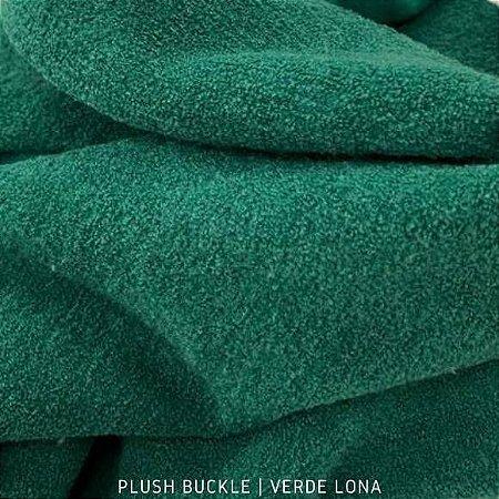 Buckle Plush Verde Bandeira tecido Flanelado e Felpudo por Fora 50cmx1,50m