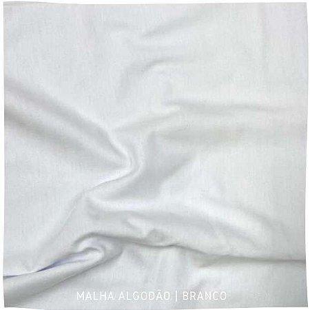Malha 100%Algodão Penteada Branco 50cm x 1,80m (tubular)